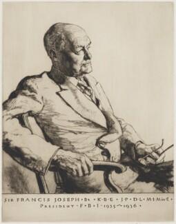 Sir Francis L'Estrange Joseph, by Malcolm Osborne - NPG D36744