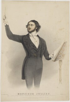 Louis Antoine Jullien, by Edward Morton, printed by  M & N Hanhart, published by  John Mitchell, after  Alfred Edward Chalon - NPG D36748