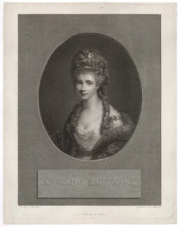 Angelica Kauffmann, by Ernst Morace, published by  Johann Friedrich Frauenholz, after  Sir Joshua Reynolds - NPG D36750