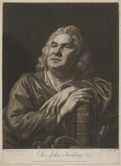 Sir John Fielding, by John Raphael Smith, published by  Carey & Watson, after  Nathaniel Hone, published 1773 - NPG D36915 - © National Portrait Gallery, London