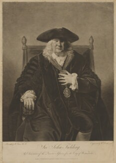 Sir John Fielding, by and published by William Dickinson, and published by  Thomas Watson, after  Matthew William Peters, published 12 November 1778 - NPG D36918 - © National Portrait Gallery, London
