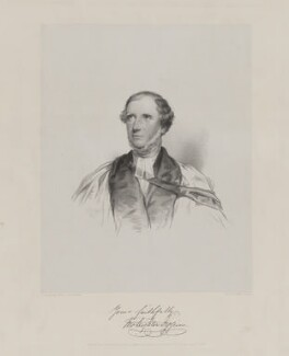 John Leighton Figgins, by John Alfred Vinter, printed by  Day & Son, published by  Thomas Agnew & Sons Ltd, after  Charles Allen Duval - NPG D36919