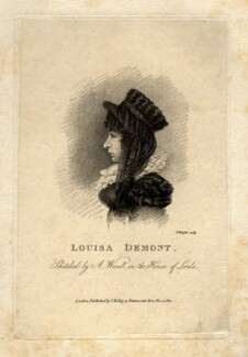 Louisa Demont, by Thomas Wright, after  Abraham Wivell - NPG D10954