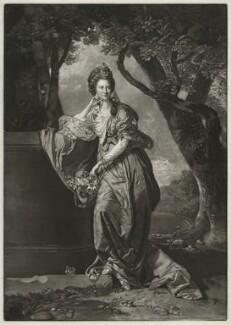 Catherine Wodhull, by Richard Houston, published by  Robert Sayer, after  Johan Joseph Zoffany - NPG D36311