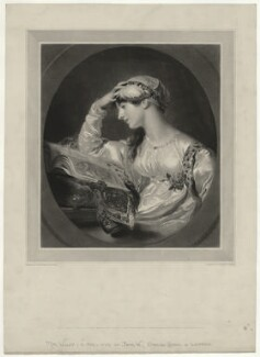 Isabella Ann Wolff, by Samuel Cousins, published by  John Clowes Grundy, published by  Robert Hindmarsh Grundy, published by  Anaglyphic Company, after  Goupil & Vibert, after  Sir Thomas Lawrence - NPG D36320