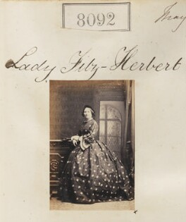 Annie (née Alleyne), Lady Fitzherbert, by Camille Silvy, 14 May 1862 - NPG Ax132877 - © National Portrait Gallery, London