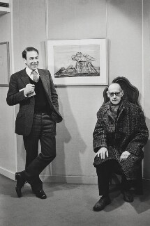 Cecil Collins; Anthony d'Offay, by Jane Bown - NPG x133104