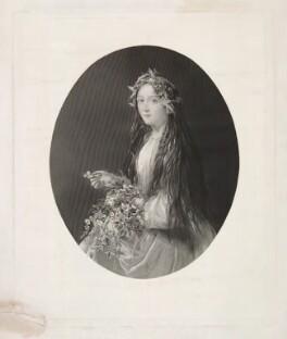 Unknown woman, formerly known as Eleanora ('Ellen') Kean (née Tree) as Ophelia in 'Hamlet', by Unknown artist - NPG D36759