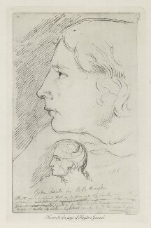John Keats, by Arthur Dawson, after  Benjamin Robert Haydon - NPG D36764