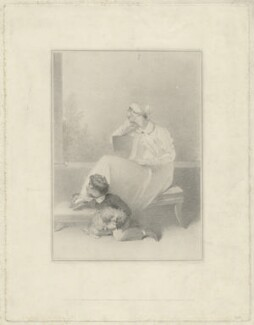 Isabella Ann Wolff with her son Herman St John Wolff, by John Charles Bromley, published by  Colnaghi and Puckle, after  Sir Thomas Lawrence - NPG D36322