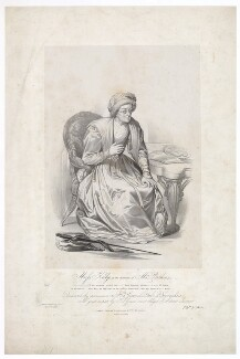 Frances ('Fanny') Maria Kelly as Mrs Parthian, by Francis William Wilkin, printed by  Graf & Soret, published by  Ackermann & Co - NPG D36774