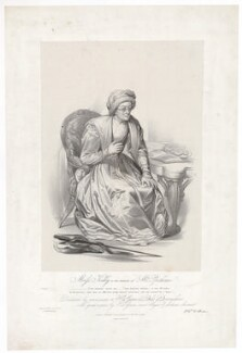 Frances ('Fanny') Maria Kelly as Mrs Parthian, by Francis William Wilkin, printed by  Graf & Soret, published by  Ackermann & Co - NPG D36775