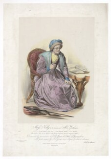 Frances Maria Kelly as Mrs Parthian, by Francis William Wilkin, printed by  Graf & Soret, published by  Ackermann & Co - NPG D36778