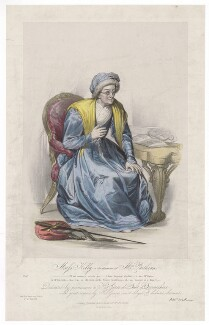 Frances ('Fanny') Maria Kelly as Mrs Parthian, by Francis William Wilkin, printed by  Graf & Soret, published by  Ackermann & Co - NPG D36780