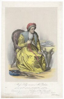 Frances Maria Kelly as Mrs Parthian, by Francis William Wilkin, printed by  Graf & Soret, published by  Ackermann & Co - NPG D36783