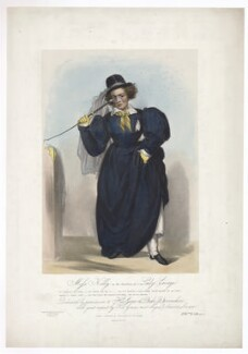Frances Maria Kelly as Lady Savage, by Francis William Wilkin, printed by  Graf & Soret, published by  Ackermann & Co - NPG D36785