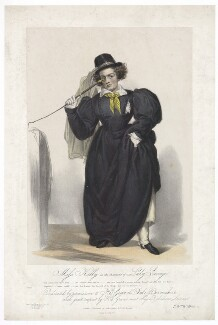 Frances ('Fanny') Maria Kelly as Lady Savage, by Francis William Wilkin, printed by  Graf & Soret, published by  Ackermann & Co - NPG D36786