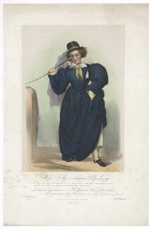 Frances Maria Kelly as Lady Savage, by Francis William Wilkin, printed by  Graf & Soret, published by  Ackermann & Co - NPG D36788