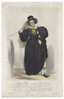 Frances Maria Kelly as Lady Savage, by Francis William Wilkin, printed by  Graf & Soret, published by  Ackermann & Co - NPG D36789