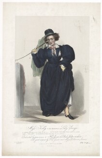 Frances Maria Kelly as Lady Savage, by Francis William Wilkin, printed by  Graf & Soret, published by  Ackermann & Co - NPG D36792
