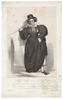 Frances ('Fanny') Maria Kelly as Lady Savage, by Francis William Wilkin, printed by  Graf & Soret, published by  Ackermann & Co - NPG D36793