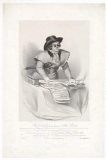 Frances ('Fanny') Maria Kelly as Mac Credit, by Francis William Wilkin, printed by  Graf & Soret, published by  Ackermann & Co - NPG D36795