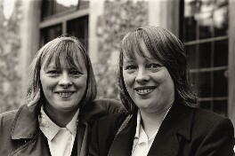 Angela Eagle; Maria Eagle, by Maggie Murray, for  Format Photographers, September 1997 - NPG x133135 - © Maggie Murray / National Portrait Gallery, London