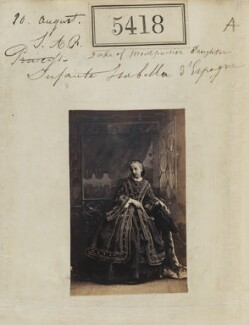 Princess Marie Isabelle of Orléans, Countess of Paris, by Camille Silvy - NPG Ax55378