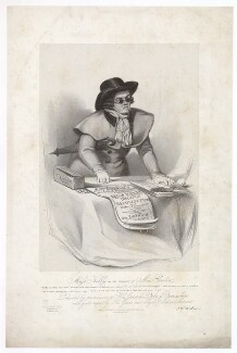 Frances ('Fanny') Maria Kelly as Mac Credit, by Francis William Wilkin, printed by  Graf & Soret, published by  Ackermann & Co - NPG D36796