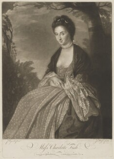 Charlotte Fish, by James Watson, published by  John Bowles, after  Sir Joshua Reynolds - NPG D36926