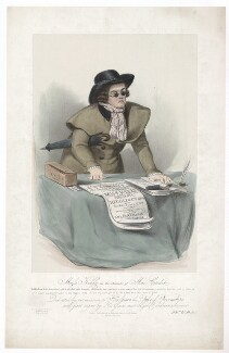 Frances ('Fanny') Maria Kelly as Mac Credit, by Francis William Wilkin, printed by  Graf & Soret, published by  Ackermann & Co - NPG D36799