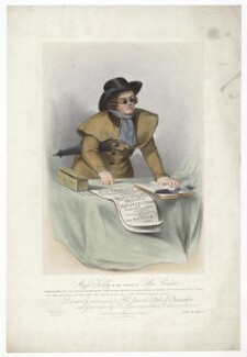 Frances ('Fanny') Maria Kelly as Mac Credit, by Francis William Wilkin, printed by  Graf & Soret, published by  Ackermann & Co - NPG D36800
