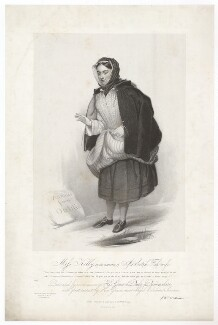 Frances ('Fanny') Maria Kelly as a Scotch Fishwife, by Francis William Wilkin, printed by  Graf & Soret, published by  Ackermann & Co - NPG D36801