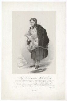 Frances ('Fanny') Maria Kelly as a Scotch Fishwife, by Francis William Wilkin, printed by  Graf & Soret, published by  Ackermann & Co - NPG D36802