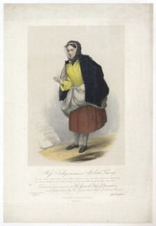 Frances ('Fanny') Maria Kelly as a Scotch Fishwife, by Francis William Wilkin, printed by  Graf & Soret, published by  Ackermann & Co - NPG D36803