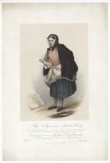 Frances ('Fanny') Maria Kelly as a Scotch Fishwife, by Francis William Wilkin, printed by  Graf & Soret, published by  Ackermann & Co - NPG D36804