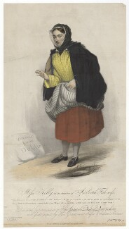 Frances ('Fanny') Maria Kelly as a Scotch Fishwife, by Francis William Wilkin, printed by  Graf & Soret, published by  Ackermann & Co - NPG D36805