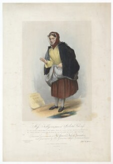 Frances ('Fanny') Maria Kelly as a Scotch Fishwife, by Francis William Wilkin, printed by  Graf & Soret, published by  Ackermann & Co - NPG D36806