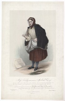 Frances ('Fanny') Maria Kelly as a Scotch Fishwife, by Francis William Wilkin, printed by  Graf & Soret, published by  Ackermann & Co - NPG D36807