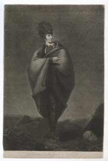 John Philip Kemble as Hamlet, by William Barnard, published by  H. Fuller, after  George Hounsom - NPG D36812