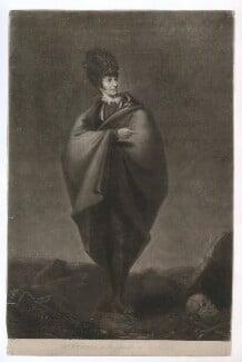 John Philip Kemble as Hamlet, by William Barnard, published by  H. Fuller, after  George Hounsom - NPG D36812
