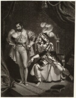 George Frederick Cooke as Richard III with an unknown actor as Buckingham, by Unknown artist, early 19th century - NPG  - © National Portrait Gallery, London