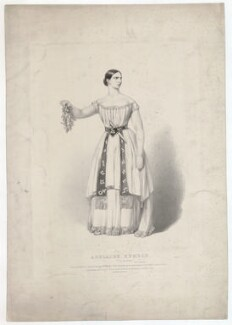 Adelaide Kemble, by Richard James Lane, printed by  M & N Hanhart, published by  John Mitchell - NPG D36817