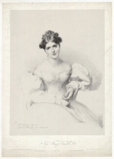 Fanny Kemble, by Richard James Lane, printed by  Charles Joseph Hullmandel, published by  Joseph Dickinson, after  Sir Thomas Lawrence - NPG D36821