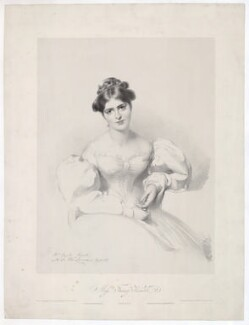 Fanny Kemble, by Richard James Lane, printed by  Charles Joseph Hullmandel, published by  Joseph Dickinson, after  Sir Thomas Lawrence - NPG D36822