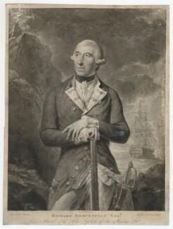 Richard Kempenfelt, by Richard Earlom, published by  John Boydell, after  Tilly Kettle - NPG D36828