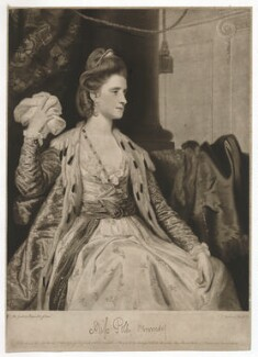 Miss Kennedy (probably Polly Kennedy (Polly Jones)), by and published by Thomas Watson, and published by  Henry Parker, and  Samuel Hooper, and  Walter Shropshire, after  Sir Joshua Reynolds - NPG D36834