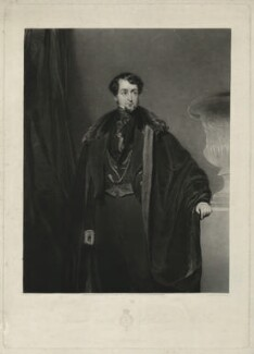 Thomas Grosvenor Egerton, 2nd Earl of Wilton, by Charles Turner, published by  Sir Francis Graham Moon, 1st Bt, after  John Bostock - NPG D37044