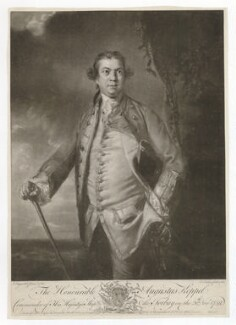 Augustus Keppel, Viscount Keppel, by Edward Fisher, published by  Robert Sayer, and  John Bowles, and  Carington Bowles, and  Henry Parker, and  Elizabeth Bakewell, after  Sir Joshua Reynolds, 1760 (1759) - NPG D36846 - © National Portrait Gallery, London