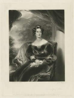 Mary Margaret Egerton (née Stanley), Countess of Wilton, by George Henry Phillips, published by  Hodgson & Graves, published by  Thomas Agnew, after  Sir Thomas Lawrence - NPG D37047